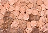 U.S. Pennies Texture