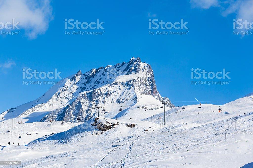 Pennine Alps on the Italian-Swiss border stock photo
