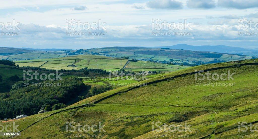 Pennine Hills, Northern England stock photo