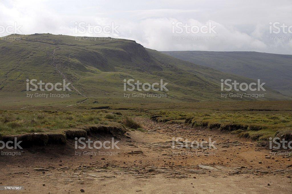 Pennine Way, Kinder Scout, Peak District UK royalty-free stock photo