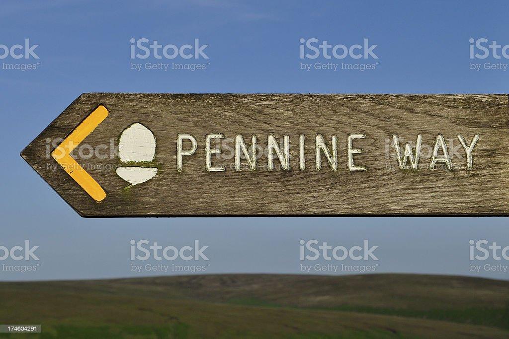 Pennine Way Sign stock photo