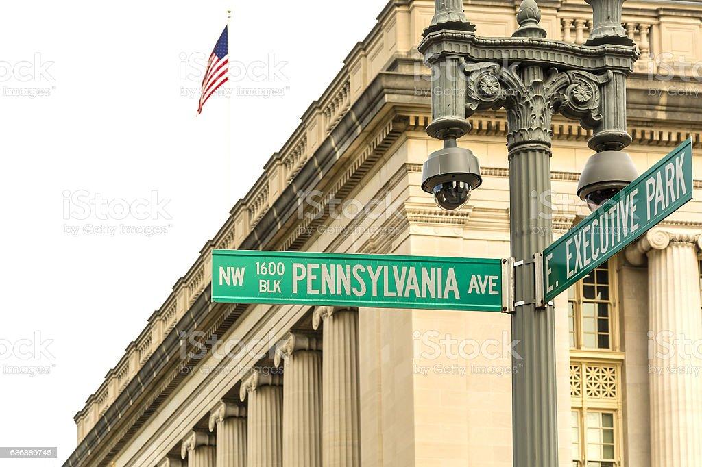 Pennsylvania Ave in Washington DC stock photo