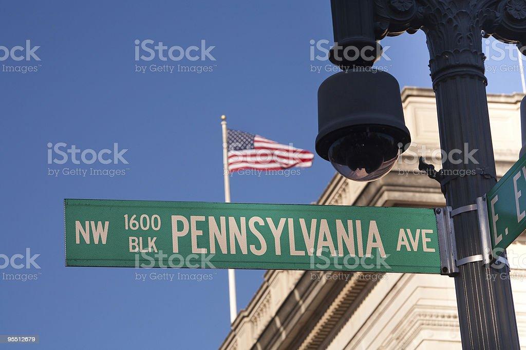 Pennsylvania Avenue, #1600 stock photo