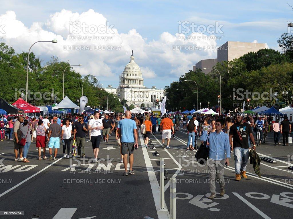 Pennsylvania Avenue in Washington DC stock photo