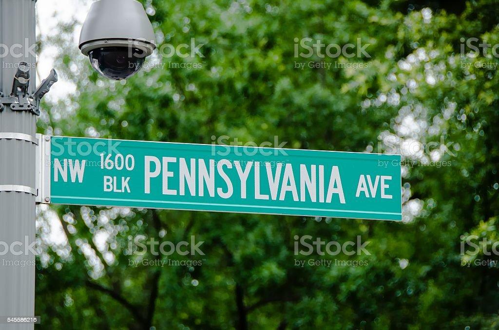 1600 Pennsylvania Avenue, Washington DC stock photo
