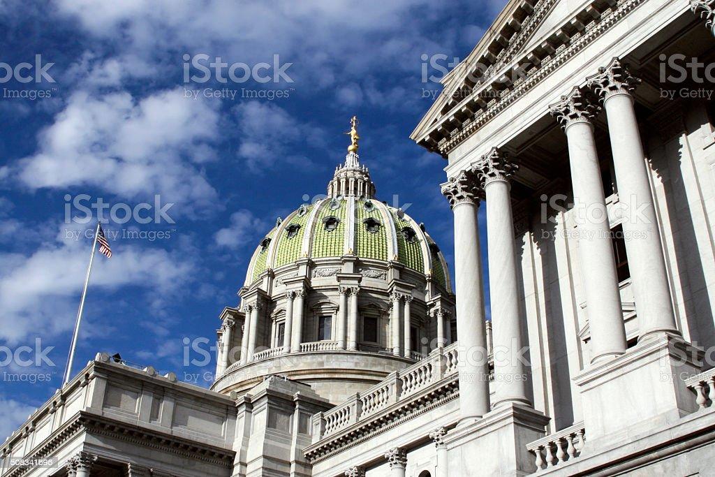 Pennsylvania Capitol Building in Harrisburg stock photo