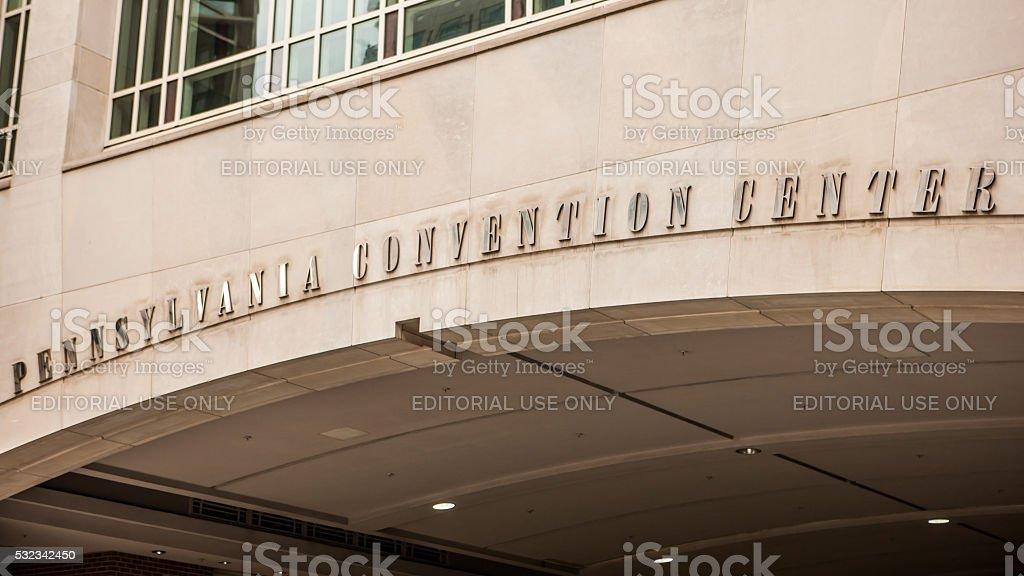 Pennsylvania Convention Center exterior in Philadelphia, Pennsylvania stock photo