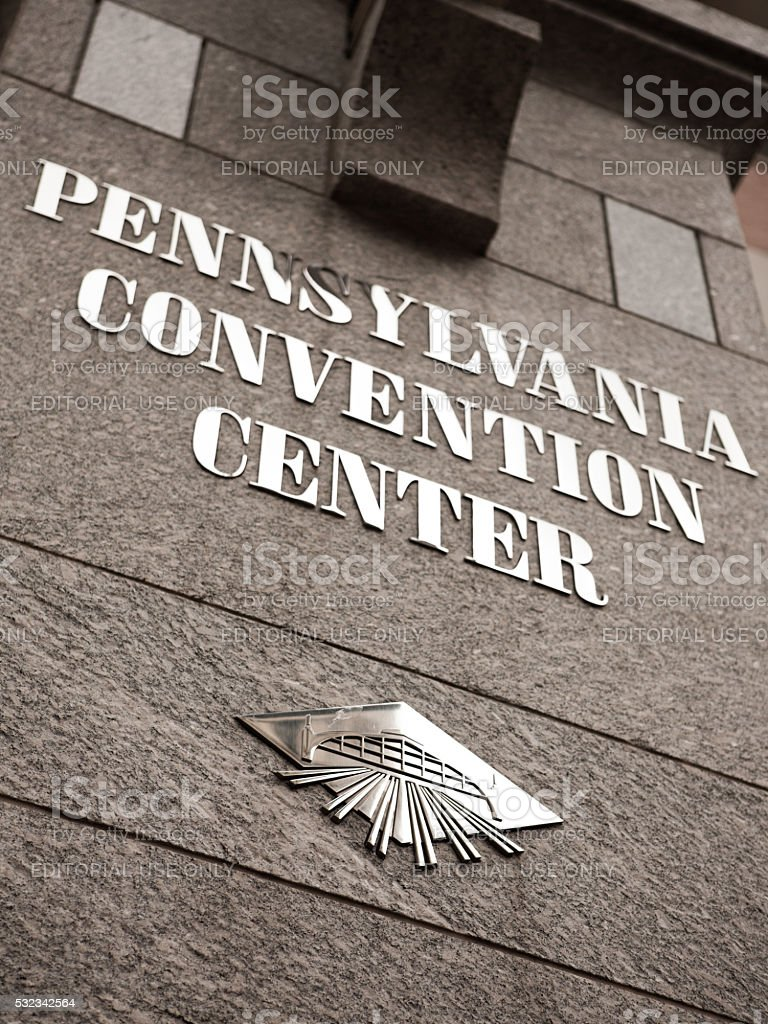 Pennsylvania Convention Center exterior in Philadelphia, Pennsylvania stock photo