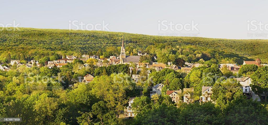 Pennsylvania Country Town stock photo
