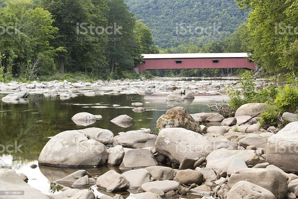 Pennsylvania Covered Bridge stock photo