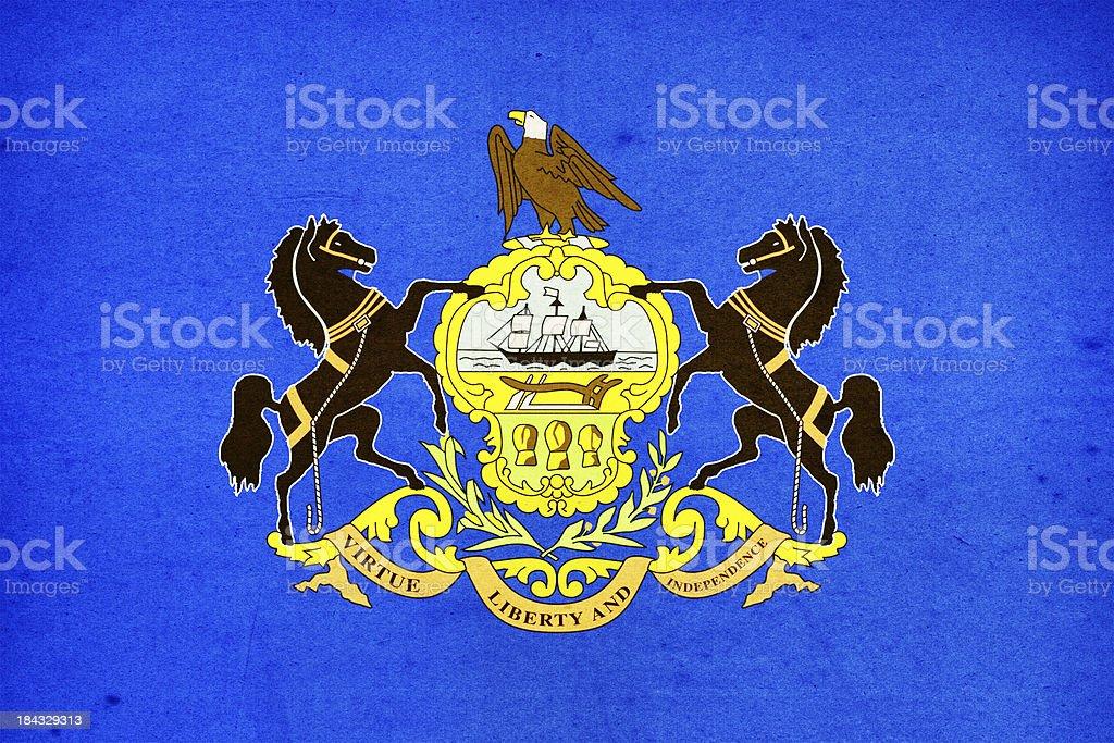 Pennsylvania Flag Close-Up (High Resolution Image) stock photo