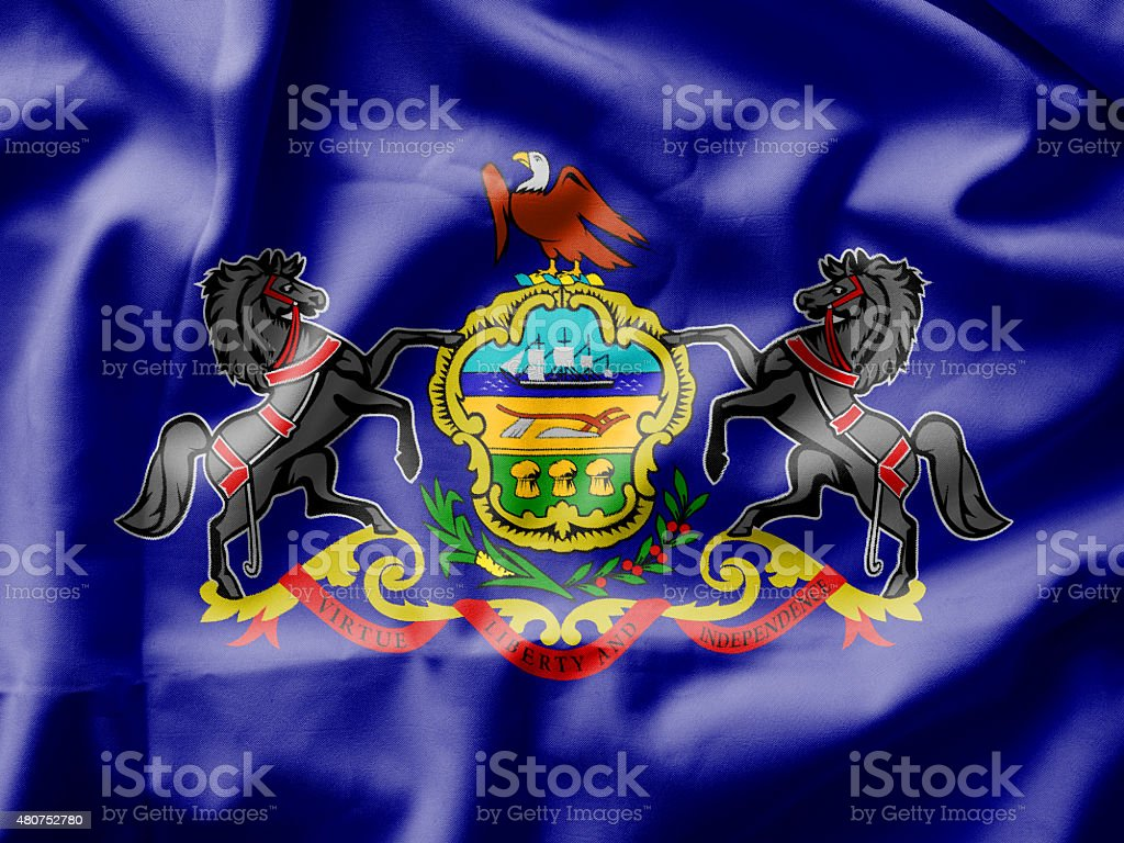 Pennsylvania Flag stock photo
