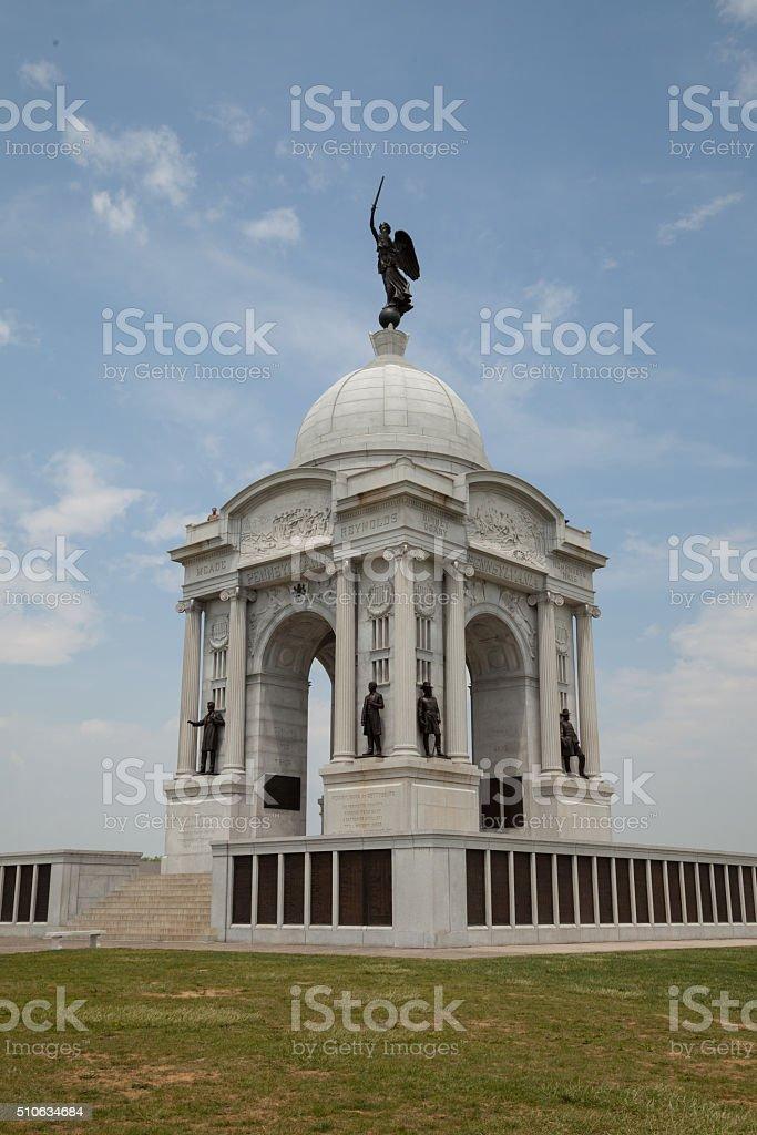 Pennsylvania Memorial at Gettysburg, PA stock photo