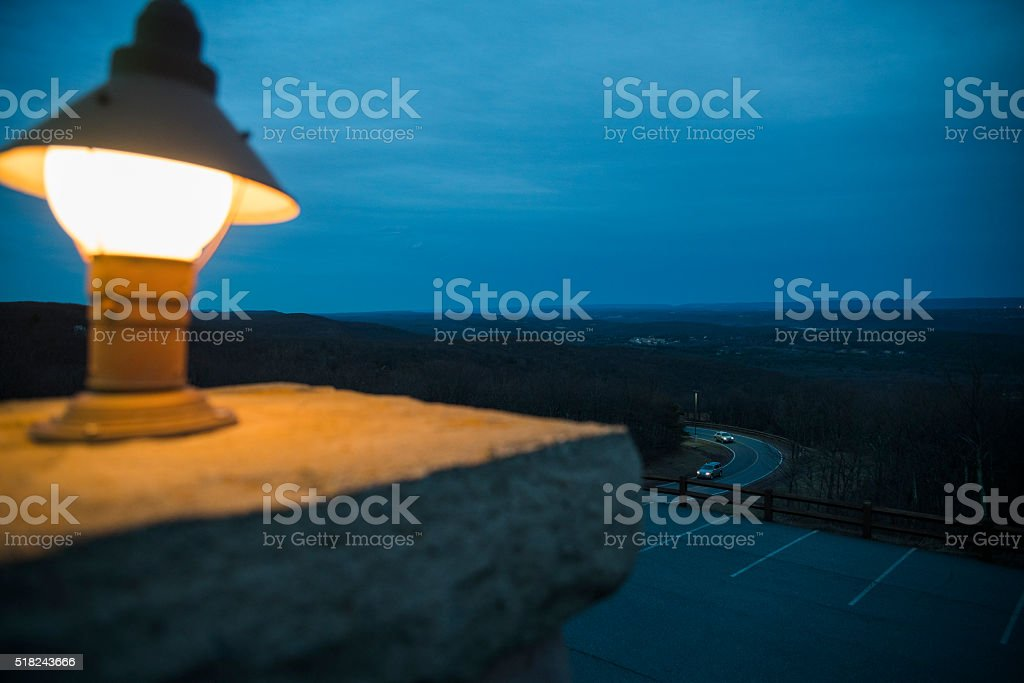 Pennsylvania mountains view from Penn's Peak, Poconos stock photo
