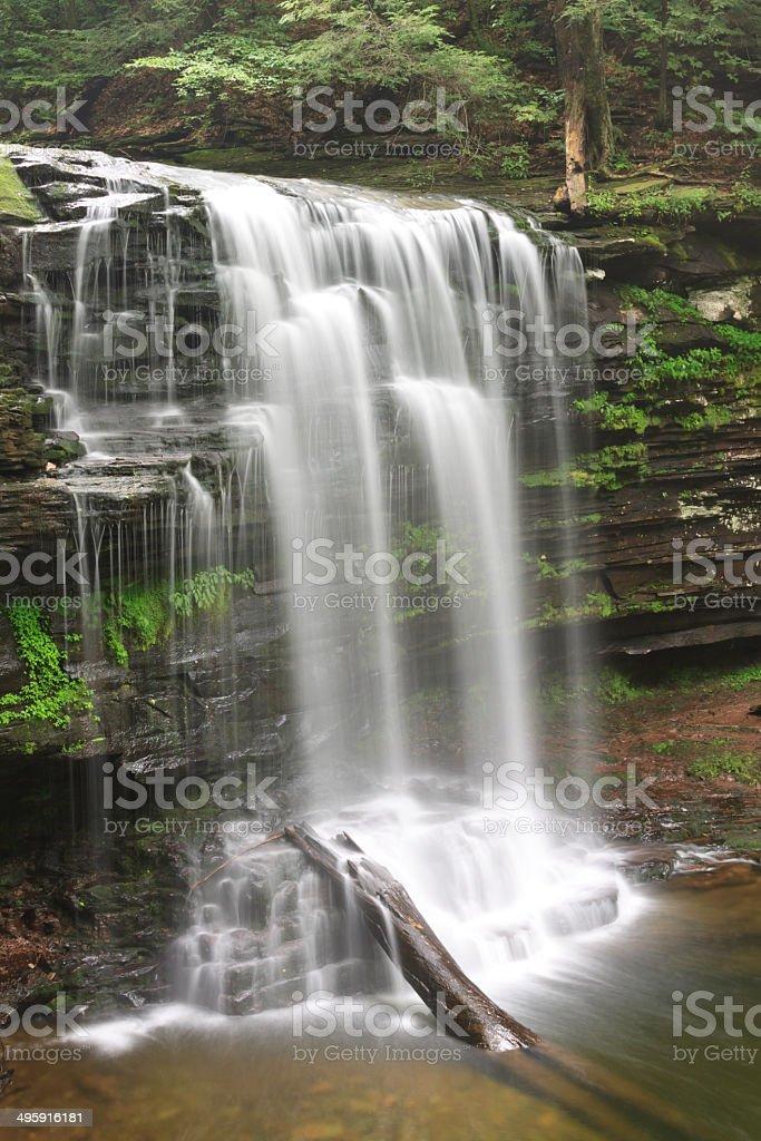 Pennsylvania Mountains Waterfall stock photo