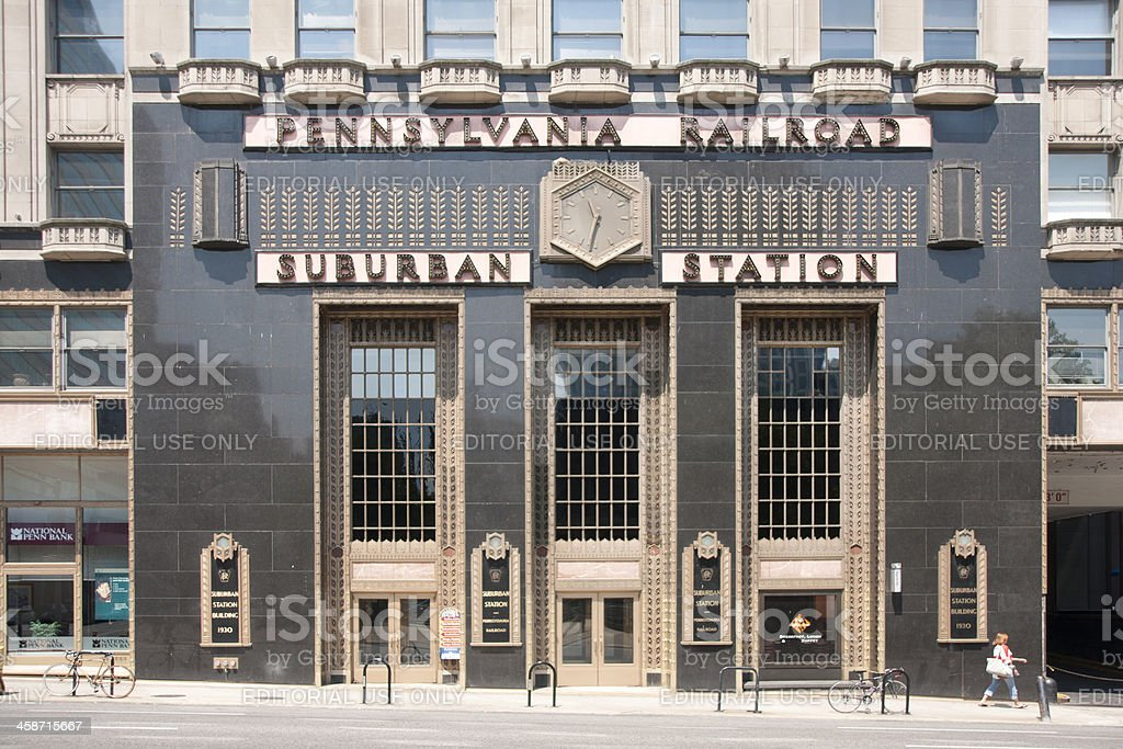 Pennsylvania Railroad Suburban Train Station Philadelphia stock photo