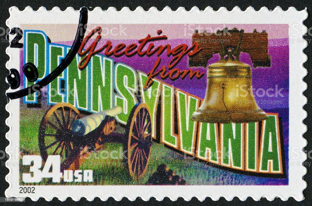 Pennsylvania Stamp royalty-free stock photo