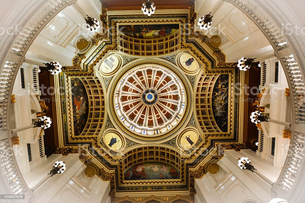Pennsylvania State Capital Dome stock photo