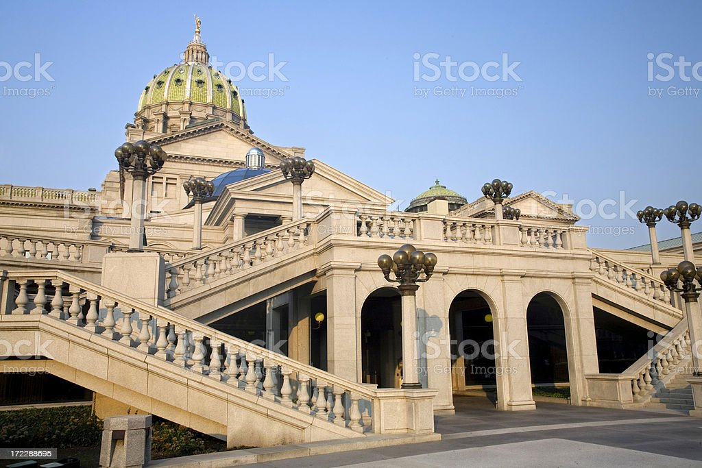 Pennsylvania State Capitol Building royalty-free stock photo