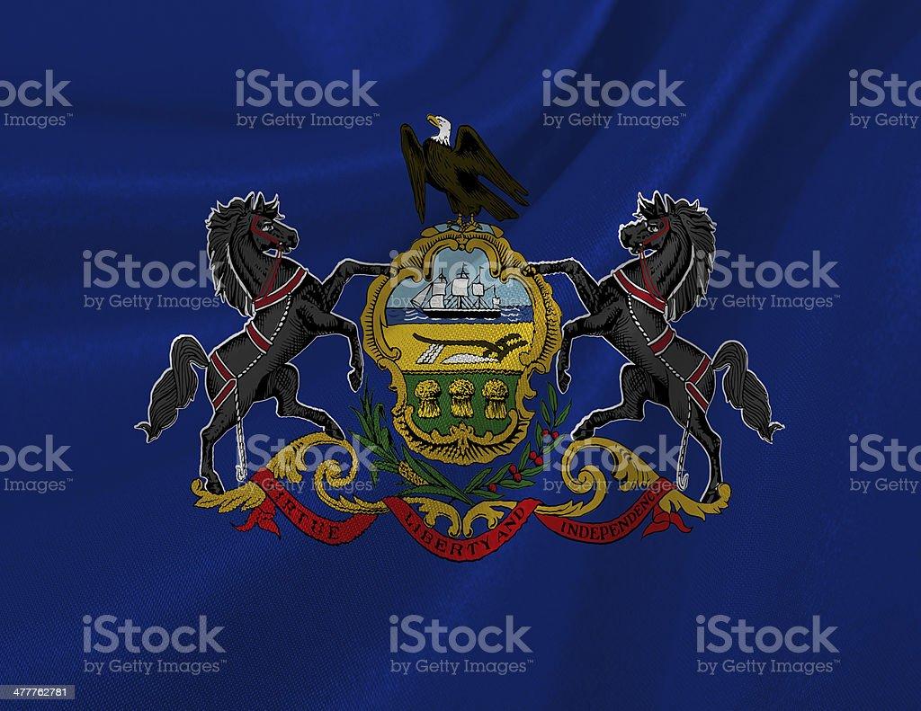 Pennsylvania State Flag stock photo