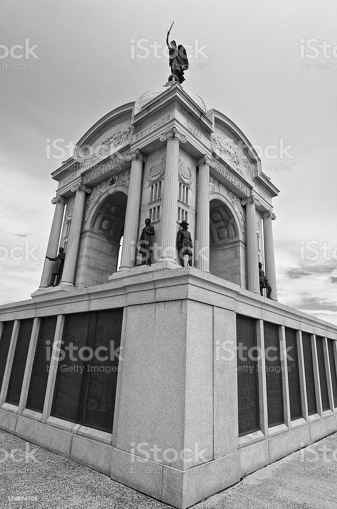 Pennsylvania State Memorial, Gettysburg National Military Park, USA royalty-free stock photo