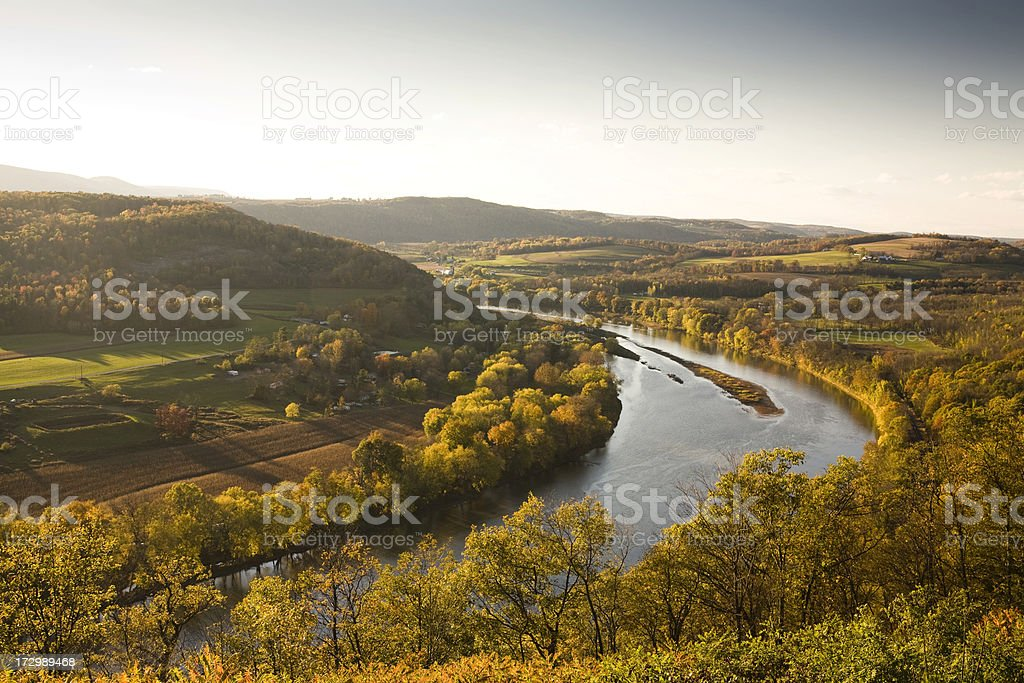 Pennsylvania valley in autumn stock photo