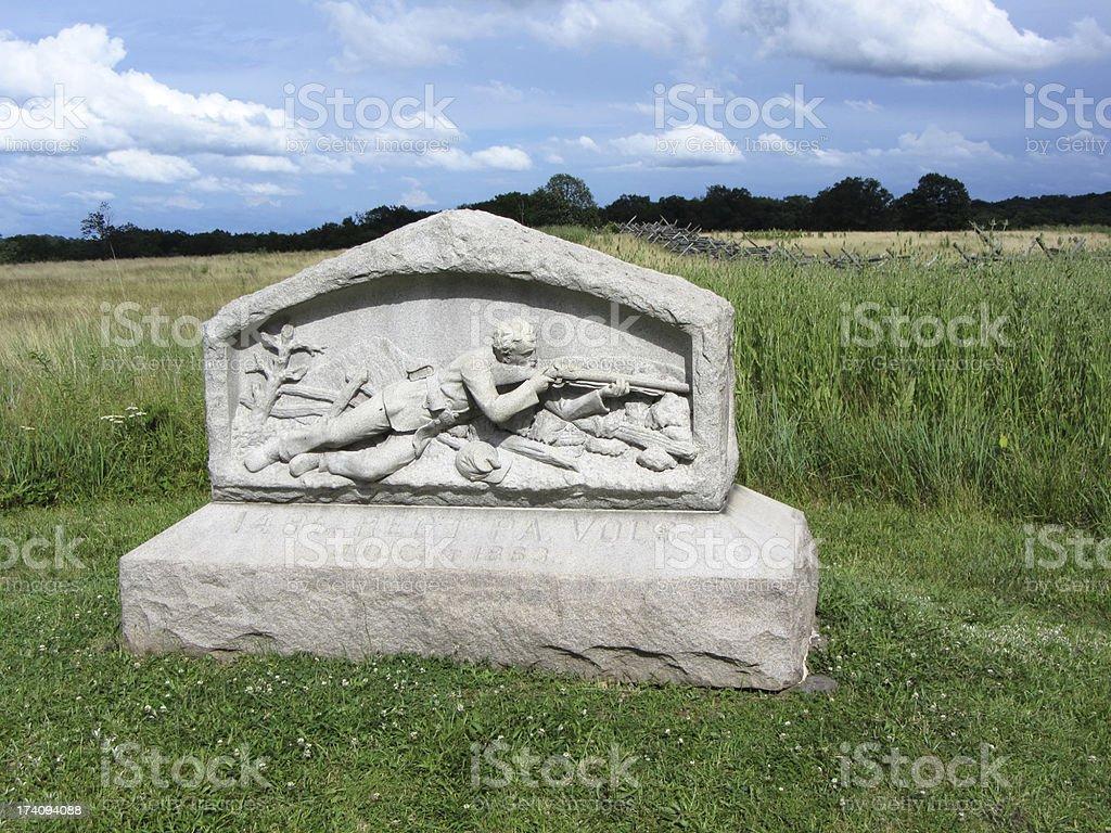 Pennsylvania Volunteer's  Memorial stock photo