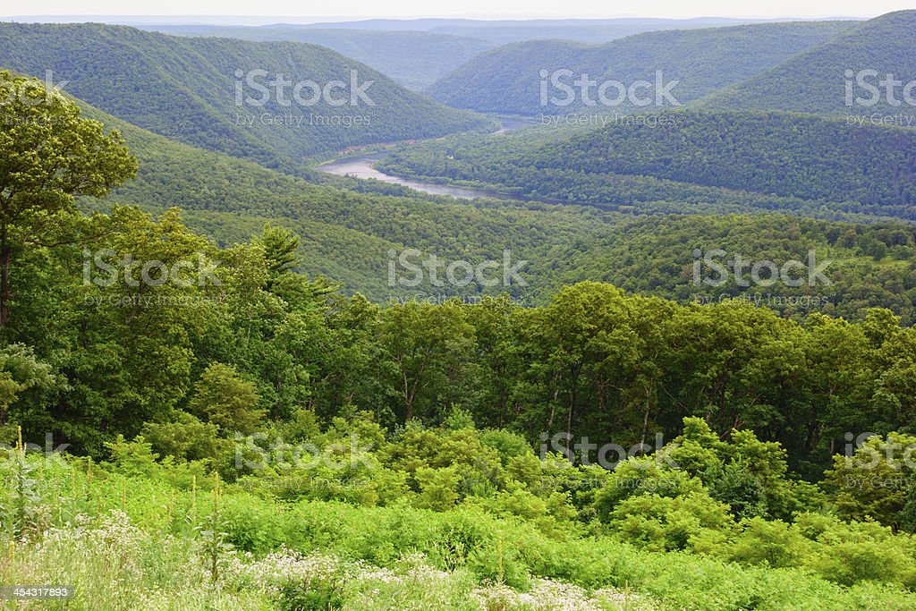 Pennsylvania Wilds, Winding Susquehanna River stock photo
