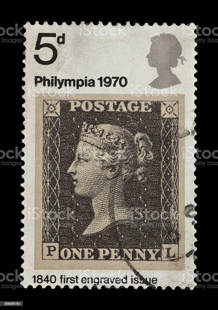 penny black stock photo