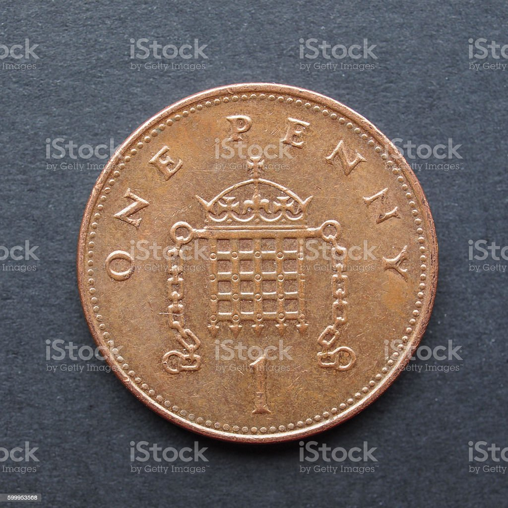 1 penny coin stock photo