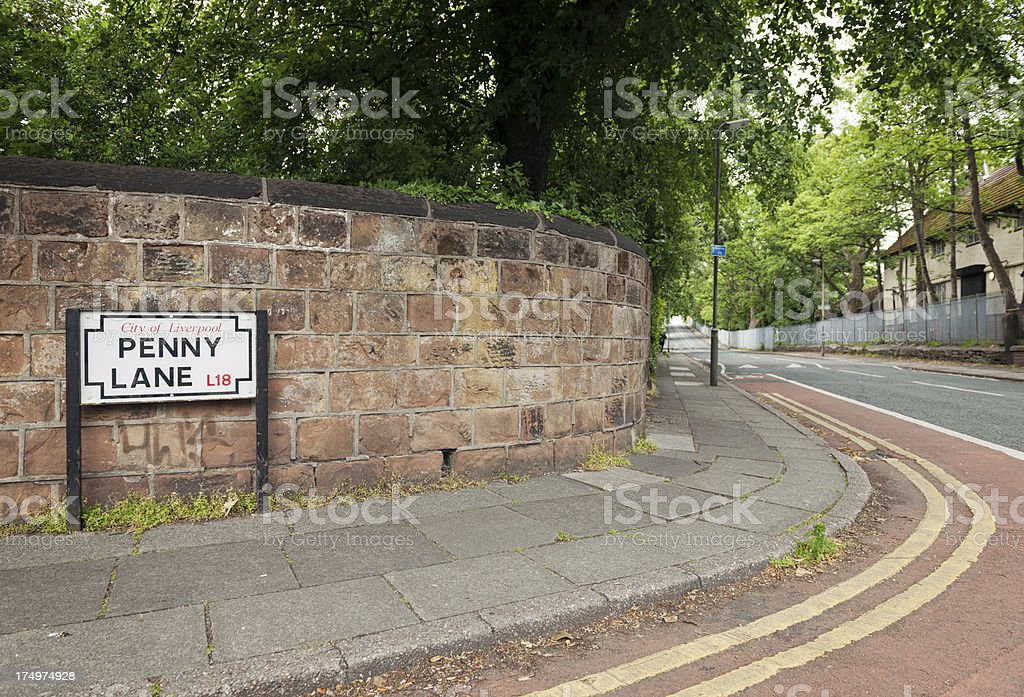 Penny Lane in Liverpool, England stock photo