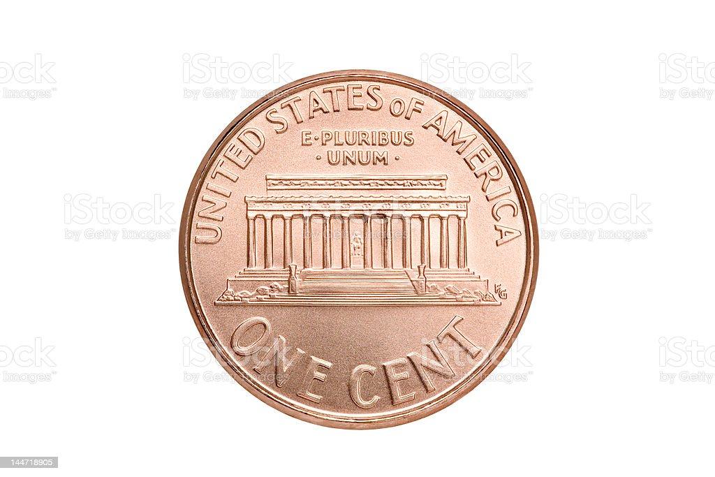 penny macro isolated stock photo