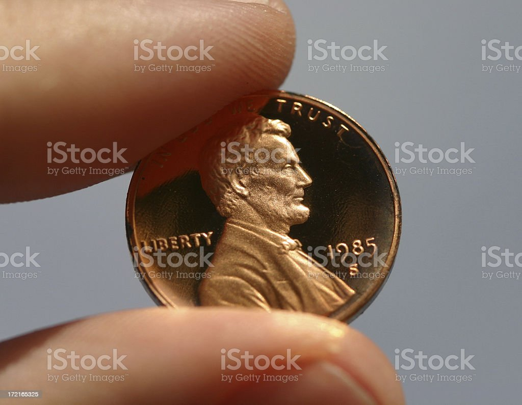 Penny Pinched royalty-free stock photo