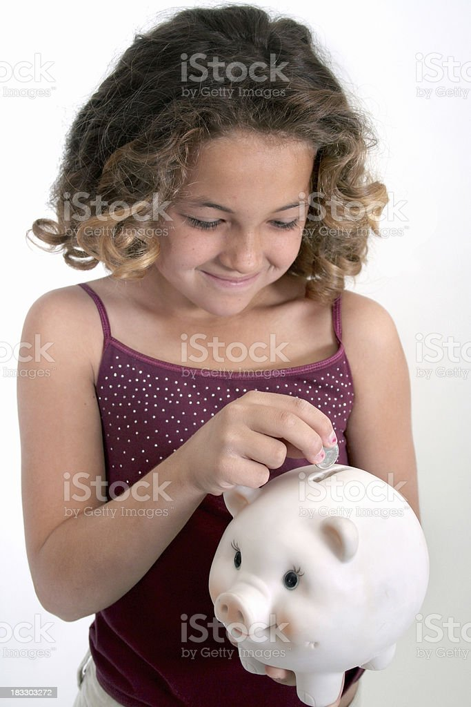 Penny Pincher royalty-free stock photo