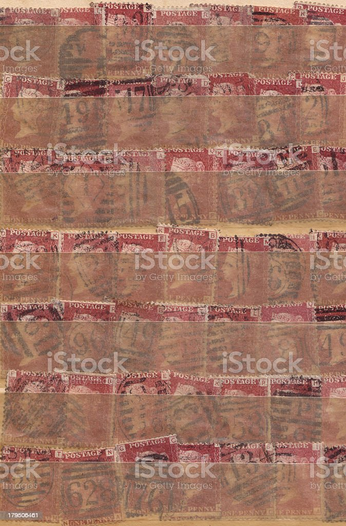 Penny Red collection royalty-free stock photo