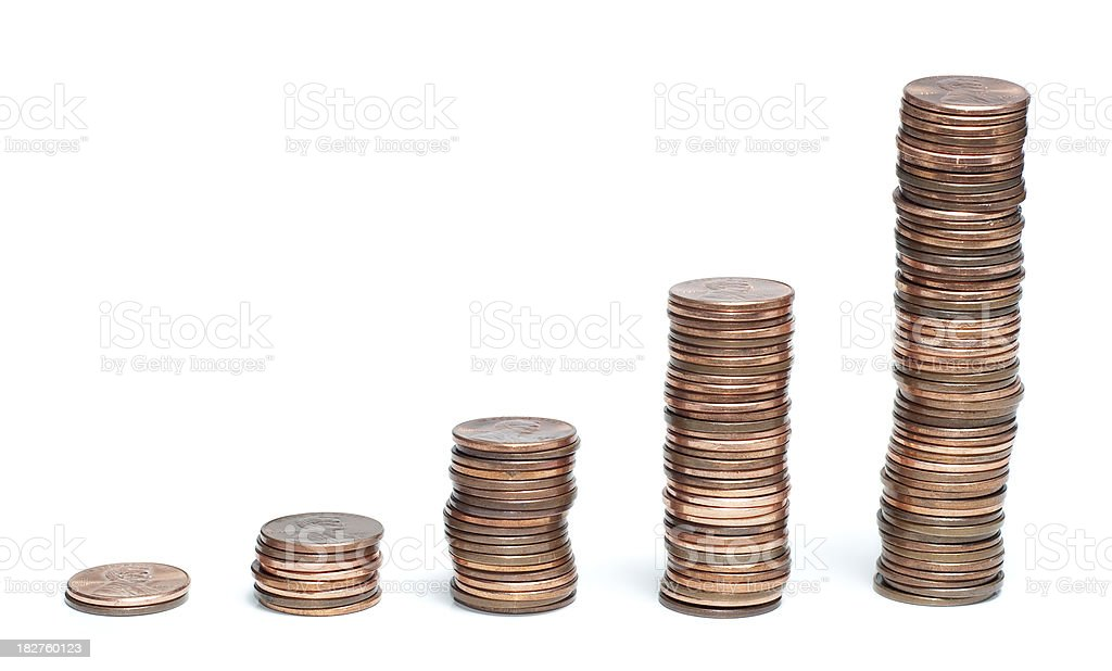 Penny Saved is Earned stock photo