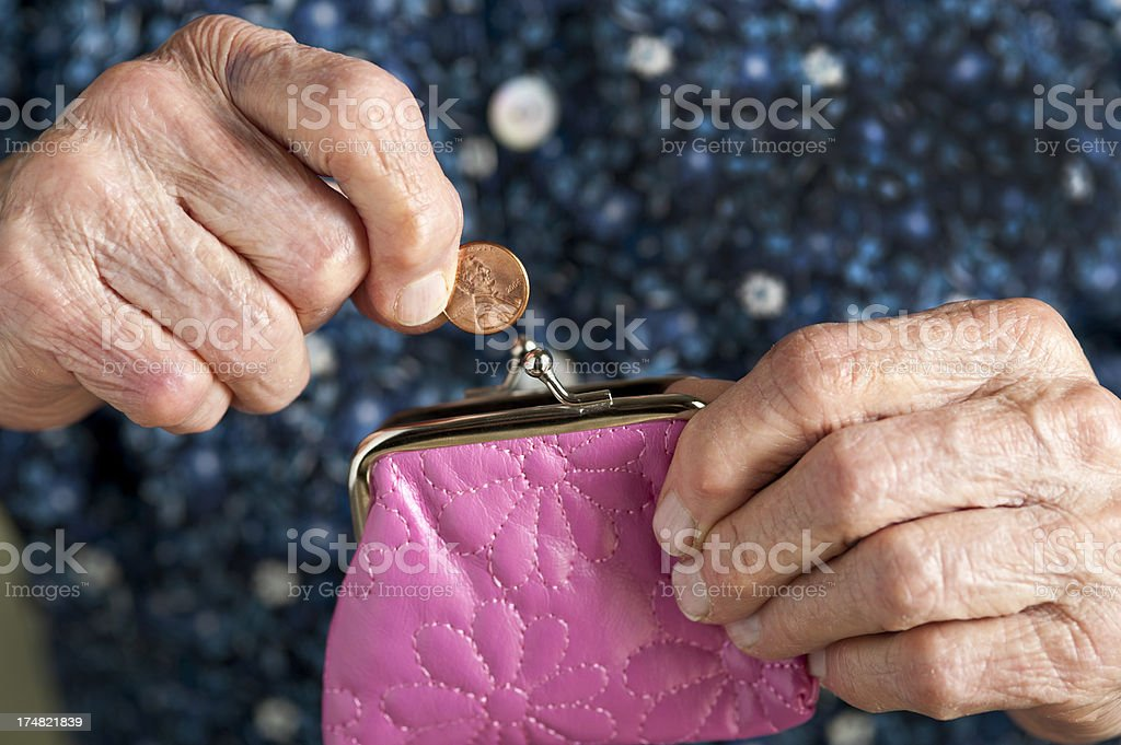 'A penny saved' stock photo