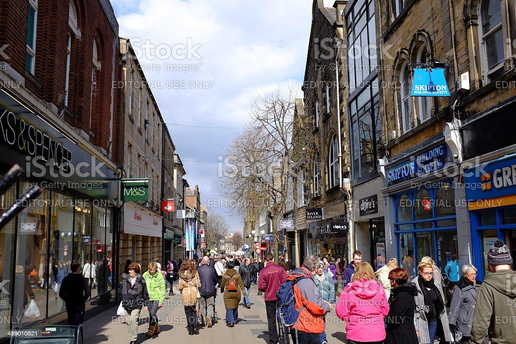 Penny Street Lancaster stock photo