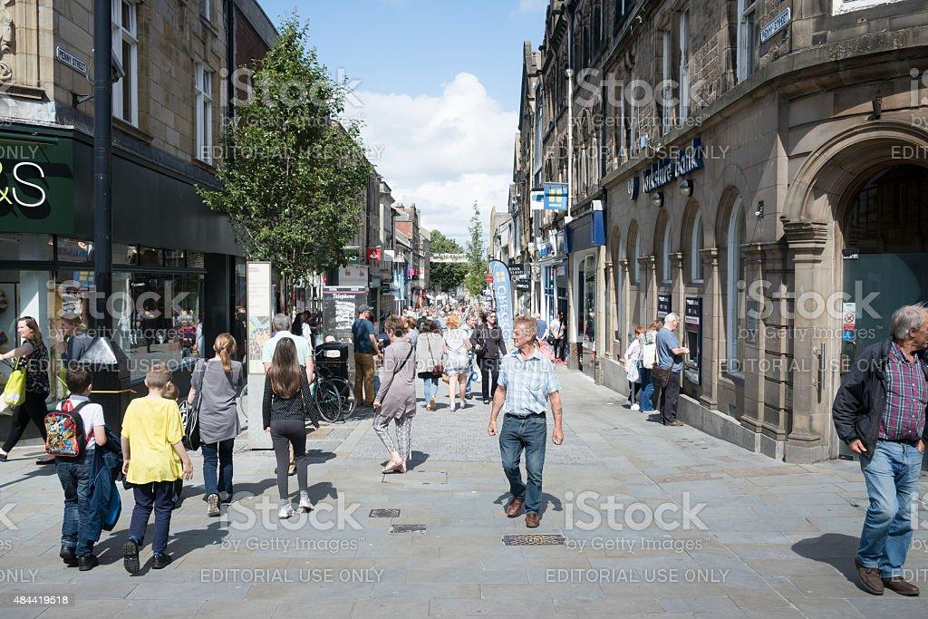 Penny Street, Lancaster, UK stock photo
