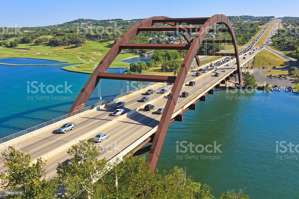 Pennybacker 360 bridge - Austin Texas stock photo