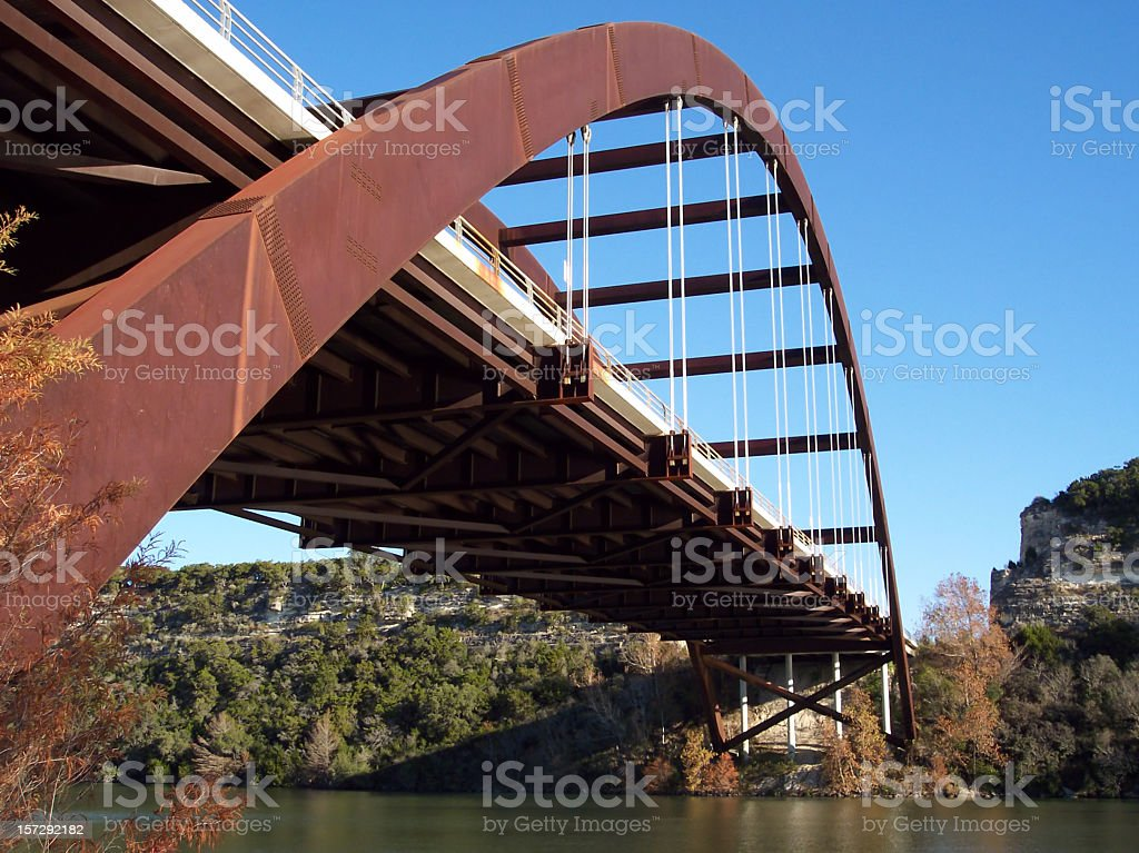 Pennybacker 360 Bridge, Austin, TX stock photo