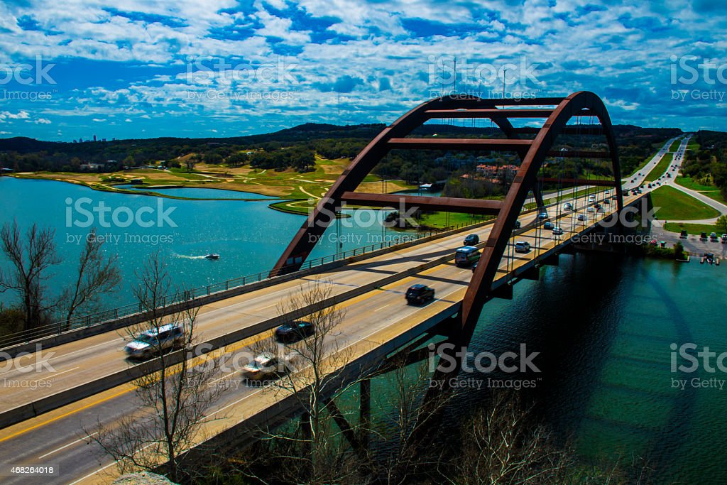 Pennybacker 360 Bridge Capital of Texas Bridge stock photo