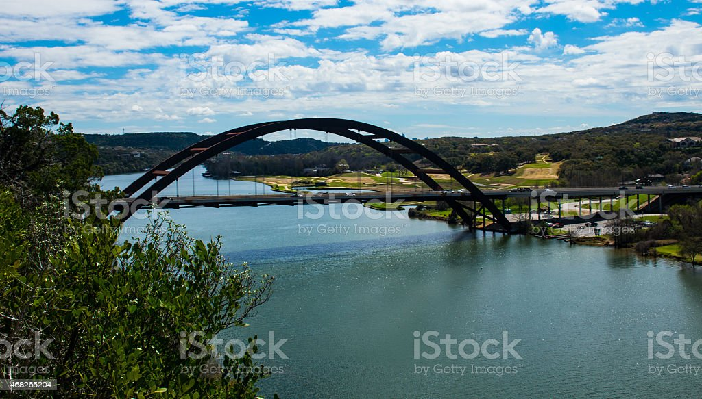 Pennybacker Bridge 360 Bridge Side Angle stock photo
