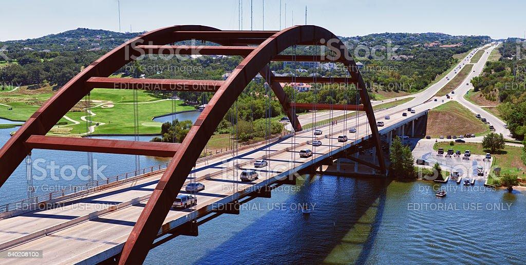 Pennybacker Bridge in Austin stock photo