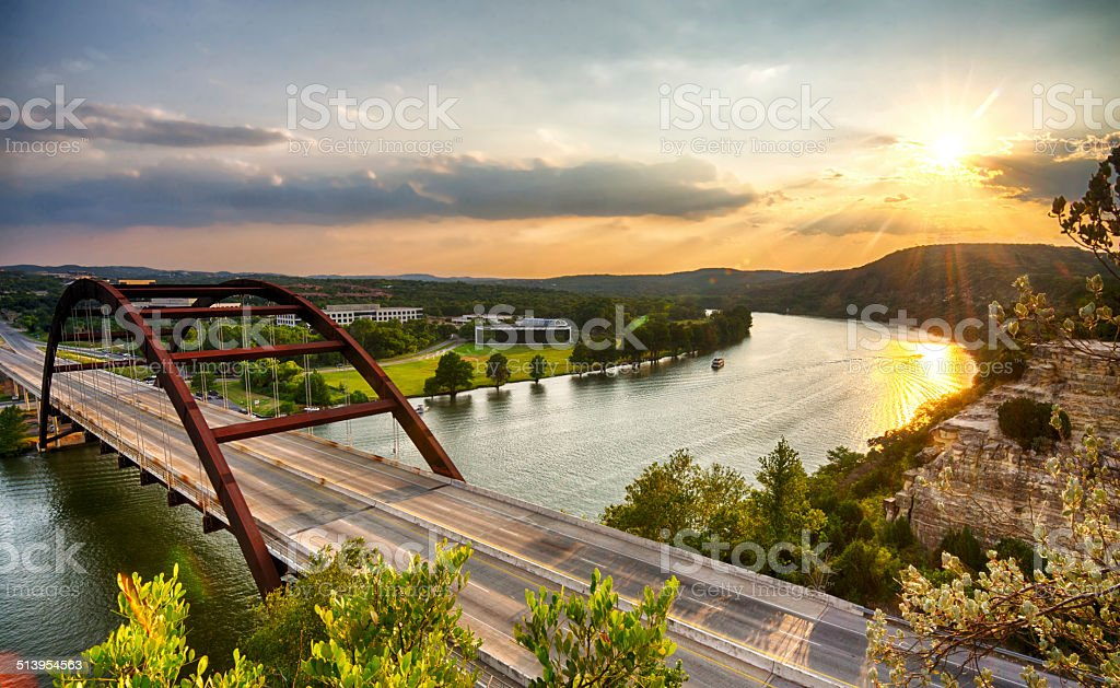 Pennybacker Bridge stock photo