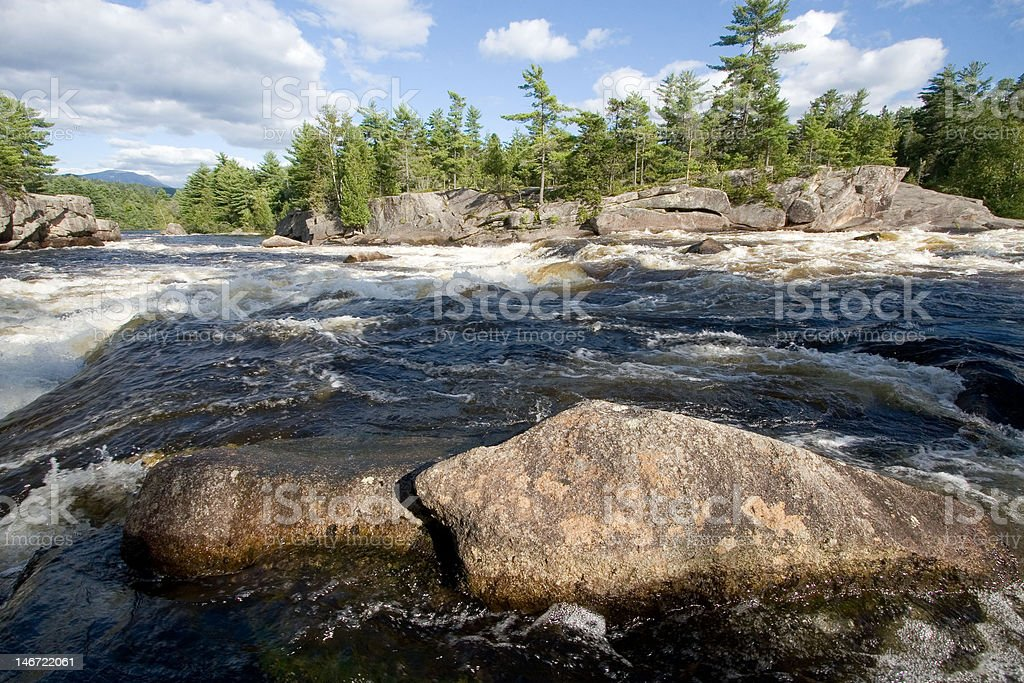 Penobscot River Cribworks stock photo