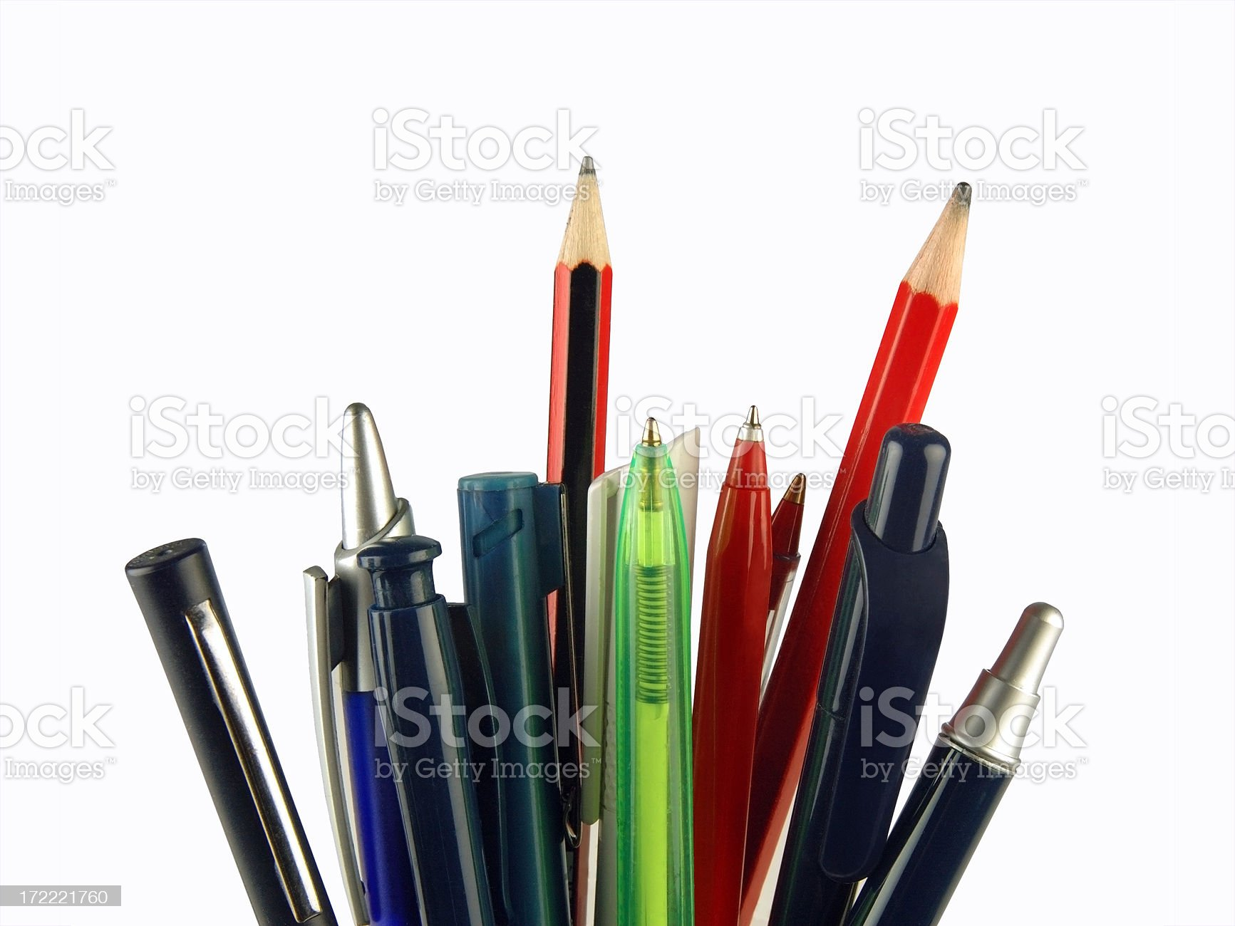 Pens and pencils royalty-free stock photo