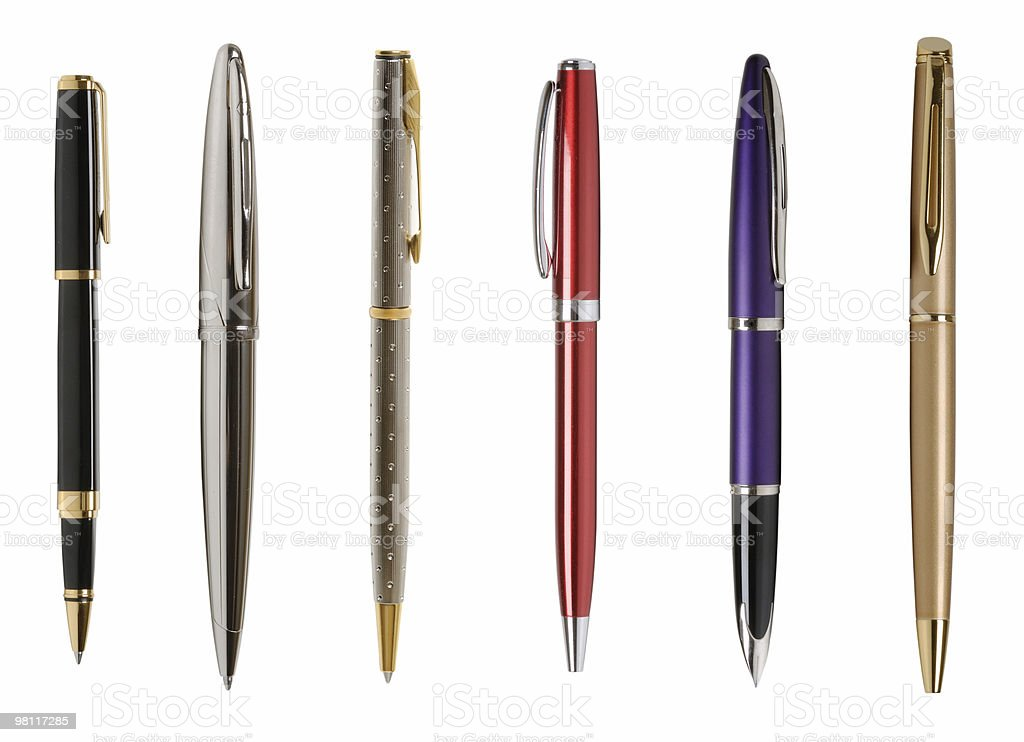 Pens for business men and women stock photo