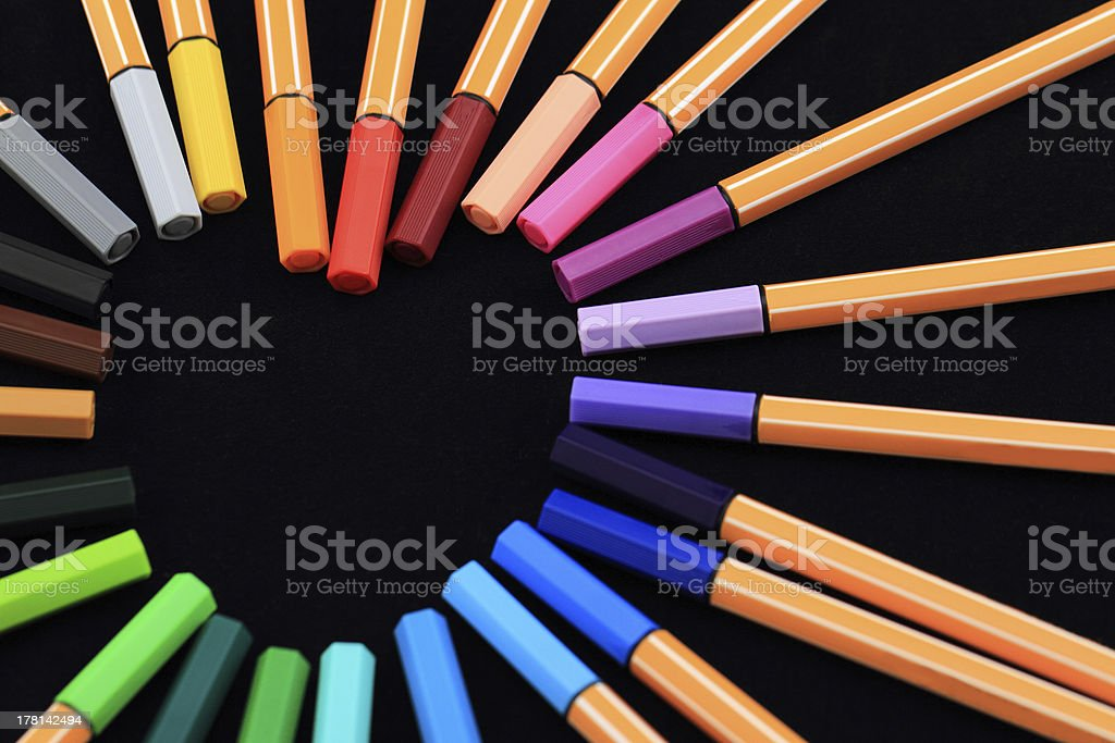 Pens in the form of heart royalty-free stock photo