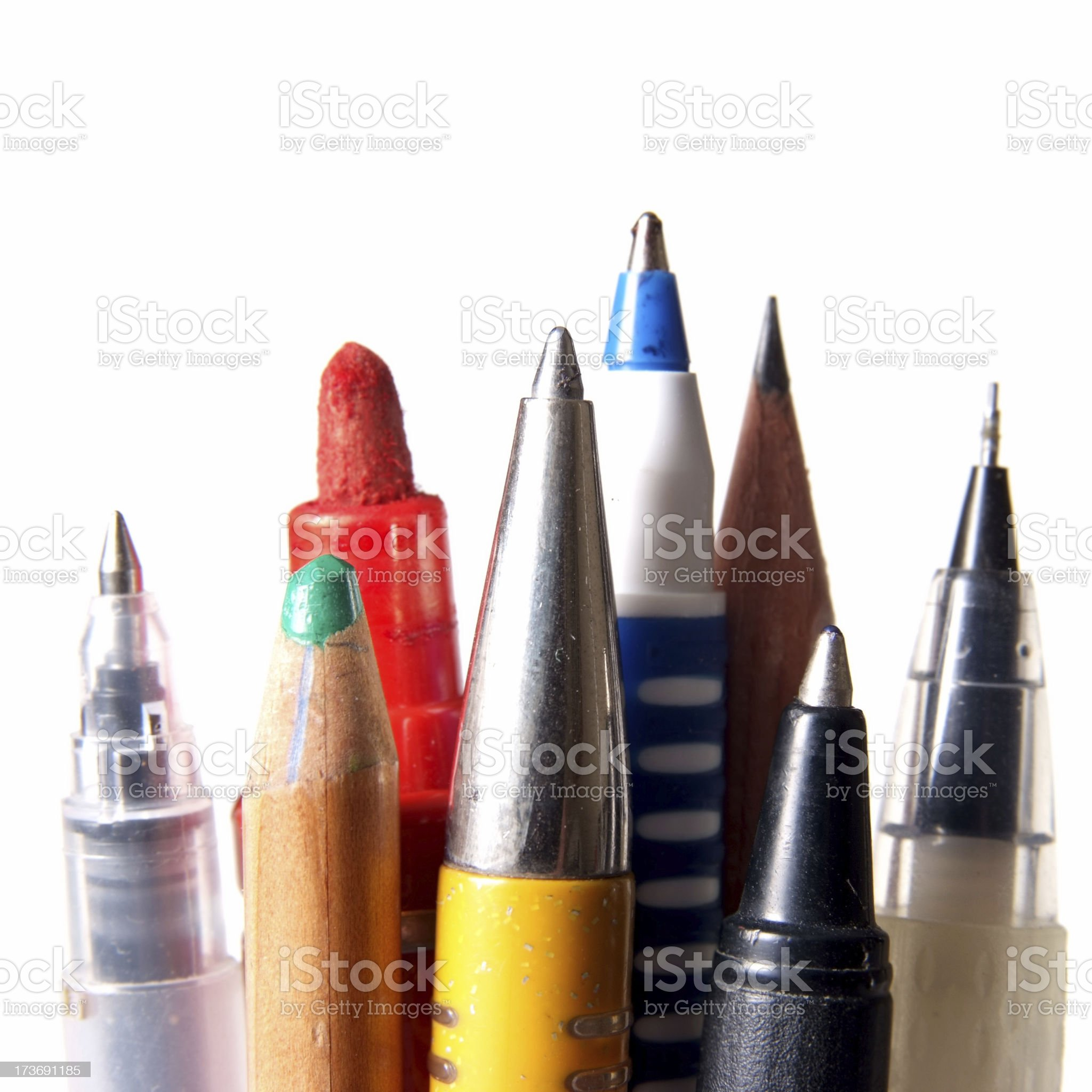 Pens & Pencils royalty-free stock photo